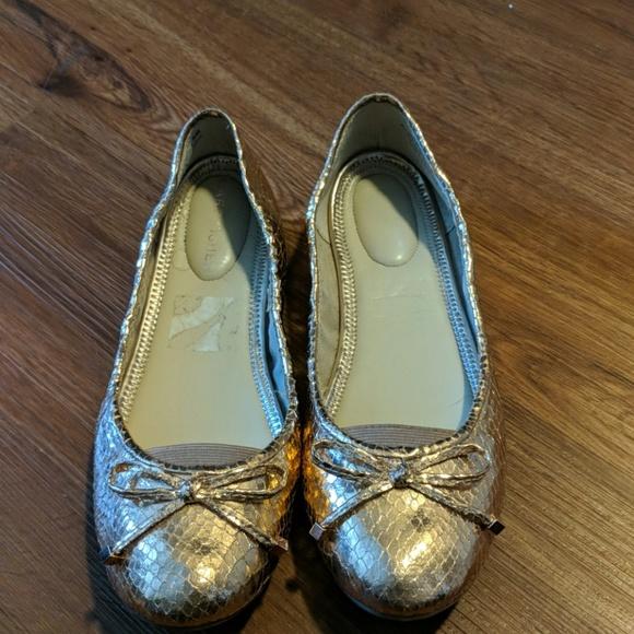 Marc Fisher Shoes - Marc Fisher gold snake ballet flats